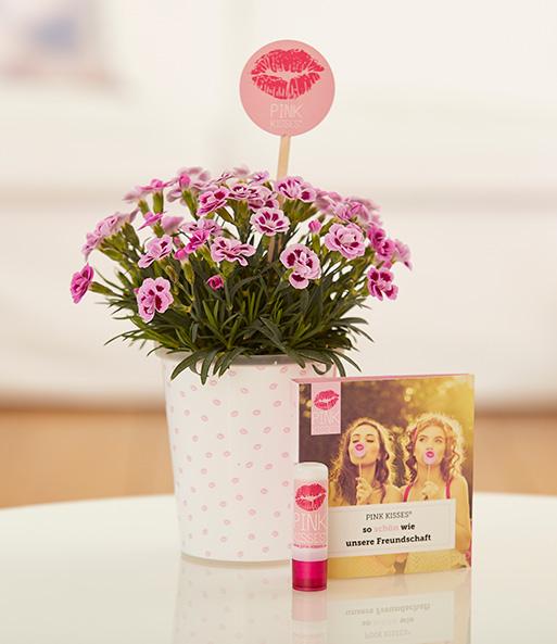 Mit dem Friendset Freundschafts-Knutscher mit Mininelke Pink Kisses® und exklusivem Lippenpflegestift zeigst du deiner BFF, wie wichtig sie dir ist und machst ihr ein tolles Freundschaftsgeschenk!
