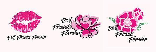 Pink Kisses® Freundschaftstattos