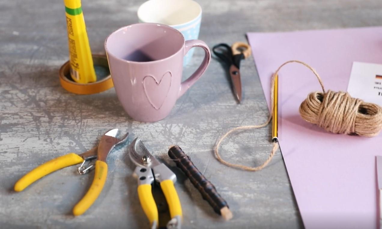Material für die persönlich gestaltete Pink Kisses, ein DIY von Pink Kisses